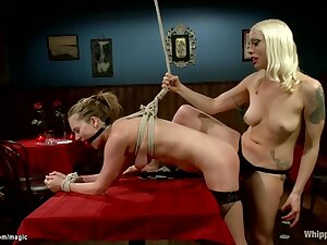 Restrict Waitress Butt Plugged With the addition of Fucked